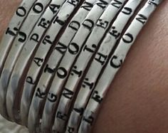 Fruits of the Spirit stamped cuff - Edit Listing - Etsy