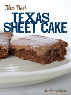 """The Best Texas Sheet Cake Recipe (It's NOT the best, but if you don't like """"cooking"""" the frosting it's cheater, I guess.)"""