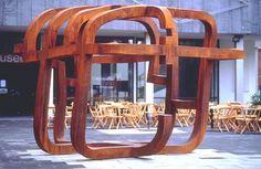 Eduardo Chillida: La jaula de la libertad, Stahl, steel, (3,36x4,28x4,28 m)