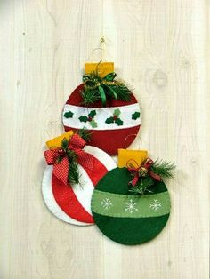 Pin on Navidad Felt Christmas Decorations, Felt Christmas Ornaments, Christmas Fun, Christmas Nativity, Snowman Ornaments, Christmas Balls, Tree Decorations, Christmas Projects, Holiday Crafts