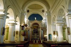 St. Theresa's Church, Sannicolau Mare, Romania.  View of the front alter.