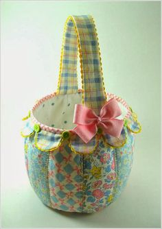 Корзинки из ткани.  Baskets made of fabric