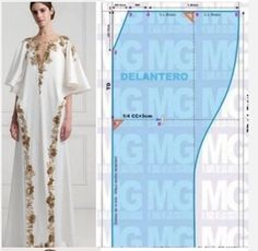 Dress Making Patterns, Easy Sewing Patterns, Clothing Patterns, Kaftan Designs, Blouse Designs, Sewing Clothes, Diy Clothes, Abaya Pattern, Couture Sewing