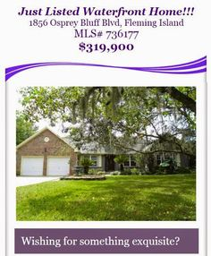 Just Listed Alert: Fantastic Waterfront property with Private Boat Slip in Fleming Island! Brought to you by Matt Berrand of INI Realty Investments, Inc., the first 100% Commission Real Estate Office in Jacksonville, FL. www.100RealEstateJax.com