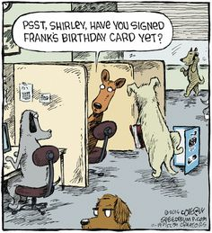 Speed Bump, Nov 19 How dogs sign cards
