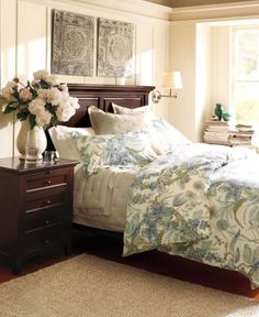 Hudson Bed, Queen, Mahogany stain | Pottery, Barn and Master bedroom