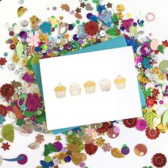 Happy Birthday! I just love these fun gold foil cupcakes! This sweet birthday card will make anyone smile! Check it out on Etsy: http://etsy.me/2sP0rkd