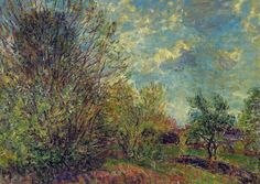 Alfred Sisley ( 1839 -  1899) A la lisiere du bois - Paysage Printemps, 1885 at Royal Museums of Fine Arts of Belgium - Brussels