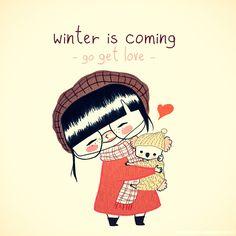 love, winter, koala, cute