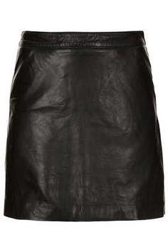 Leather A-Line Skirt - Topshop price: £85.00