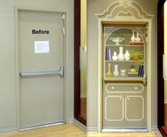 This door was a beacon to exit until it became a quite charming cabinet