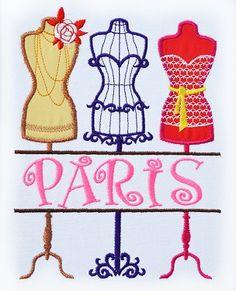 Split Mannequins Applique Embroidery Design