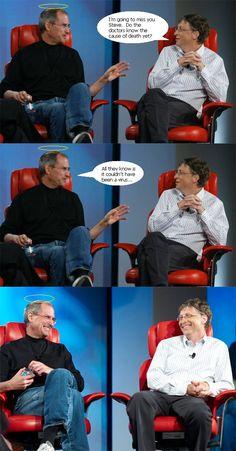 Funny Meme Of Steve Jobs and Bill Gates.....lol