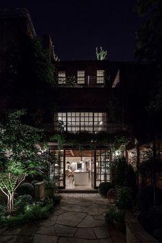 Greenwich Village #Townhouse #backyard   #BWA Architects #outdoor