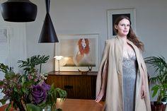 Fashion Designer Gwendolynne Burkin in her Fitzroy home. Photo: Scott McNaughton.