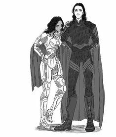 Valkyrie & Loki || Thor: Ragnarok || Cr:すもも