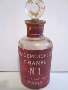 Rare 1940s CHANEL NO 1 MADEMOISELLE Perfume Bottle | House of Beccaria#