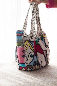"Weekend-Tasche - Handarbeiten ""aus meim Nahkastl"" Bucket Bag, Bags, Fashion, Hand Crafts, Handbags, Moda, Fashion Styles, Fashion Illustrations, Bag"