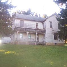 1904 South Wayne, Wisconsin,  folk Victorian farmhouse with seven bedrooms and no indoor plumbing.  - Sold