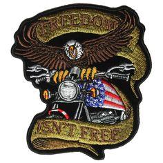 Patriotic Eagle Biker Small Patch Freedom Isn't Free