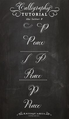 Calligraphy - the letter P