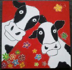 Gekke koeien Art Lessons For Kids, Fun Stuff, Snoopy, School, Fictional Characters, Fun Things, Fantasy Characters