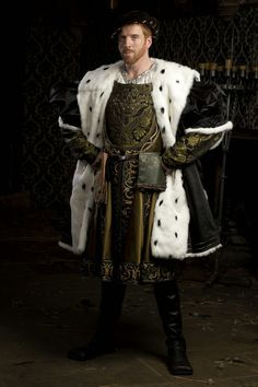 """""""Wolf Hall"""", TV series, 2015. Damian Lewis as King Henry VIII."""
