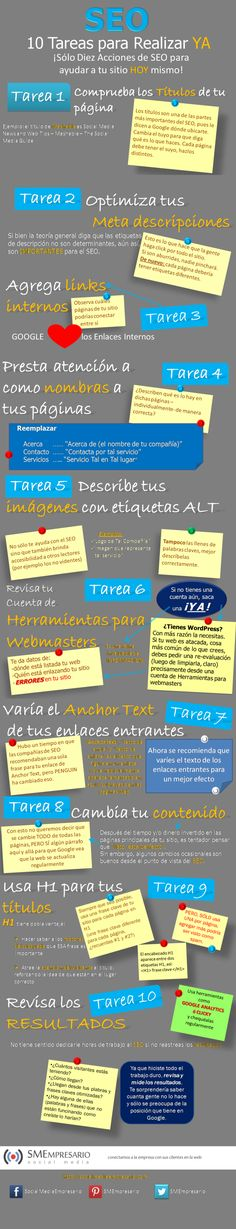 10 acciones SEO para realizar YA! vía @Alfredo Vela
