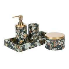 Green Marble Chips Bathroom Collection