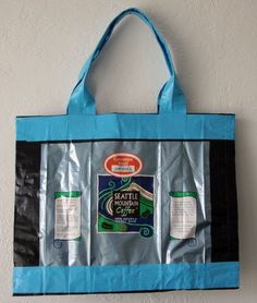 Recycled Coffee Bag/Duct Tape Purse.  I have a lot of Starbucks bags I've been saving for just this purpose. Need some pretty duct tape and I'll be in business! One large bag or several smaller.