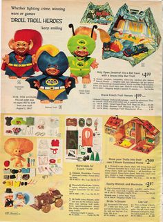 1966 sears wishbook -I had the Batcave! Loved this.