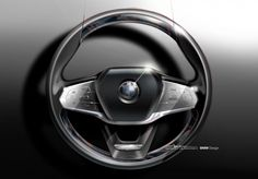 BMW 7 Series Steering Wheel Design Sketch - from the gallery: Steering Wheels
