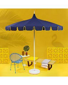 California Umbrella Pagoda Series Patio Umbrella Beach Romance, Peacock Fabric, Beach Pool, Bird Houses, Pools, Home Furnishings, Wall Decor