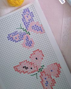 Linda Paul's media content and analytics Hand Embroidery Patterns, Embroidery Stitches, Cross Stitch Patterns, Embroidery Designs, Butterfly Cross Stitch, Cute Cross Stitch, Soft Wallpaper, Barbie Miniatures, Rainbow Loom