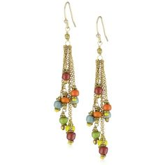 dangly wire earrings.  i could see this with chunky chain with a patina