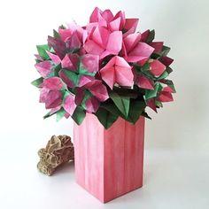 38 best origami hydrangeas images on pinterest hydrangea dual color origami hydrangea available in shop on website mightylinksfo