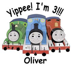 Thomas the Train James and Percy Tshirt Personalized by HappyToBee,