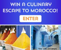 Win a trip to Morocco! Prize includes airfare, 10-day tour from Casablanca to Marrakech and more. Enter now: tastingtable.com/morocco2015