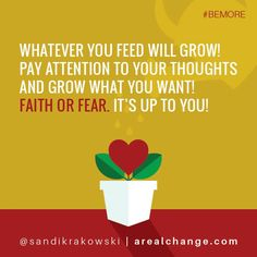 Faith or fear... it's up to you!
