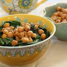 Coconut Collards and Chickpeas HealthyAperture.com