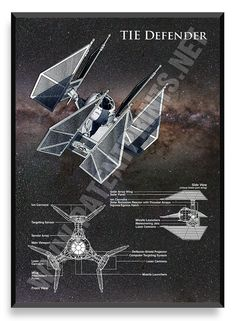 TIE Defender Poster Star Wars Ship Star by PatentPrintsPosters - Star Wars Canvas - Latest and trending Star Wars Canvas. - TIE Defender Poster Star Wars Ship Star by PatentPrintsPosters Star Trek, Nave Star Wars, Star Wars Rpg, Star Wars Ships, Star Wars Pictures, Star Wars Images, V Wings, Star Wars Painting, Star Wars Spaceships