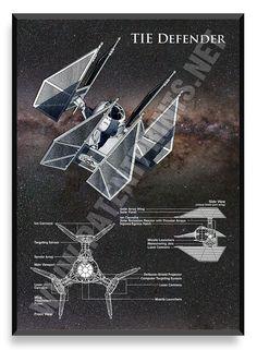 TIE Defender, Star Wars Poster