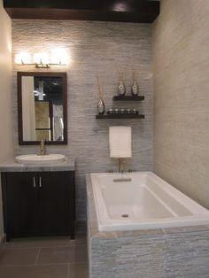 slate and ceramic bath