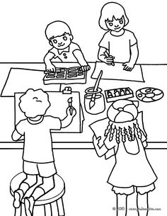 Classroom Scene Coloring Pages – Coloring for every day Sunday School Coloring Pages, Spring Coloring Pages, Easy Coloring Pages, Free Printable Coloring Pages, Coloring Books, Spongebob Coloring, Spiderman Coloring, People Coloring Pages, Dinosaur Coloring Pages