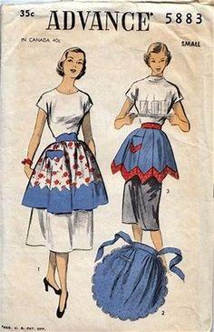 0b4b64ab938 Resultado de imagen de Vintage Half Apron Patterns