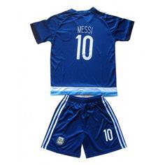 Argentina Fotballklær Barn 2016 Lionel Messi 10 Bortedraktsett Kortermet   #billige  #fotballdrakter