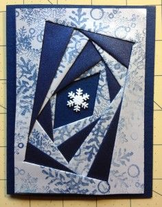 Are you ready for a five star challenge?? A little while ago we did an Iris Folding. This one is similar, with a little twist. It was sent to me by Melinda. (Lindy) It's called REVERSE Iris Folding...