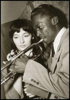 Miles Davis and Juliette Greco