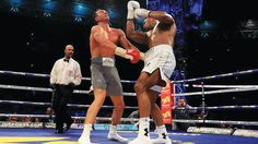 'Why Joshua-Klitchsko rematch may hold in Nigeria'   By Guardian Editor        Anthony Joshua (right) lands a right hook on Wladmir Klitch...