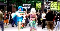 Watch A Drag Queen Teach Religious Protesters What The Bible Actually Says About A Cotton-Poly Blend Equality And Diversity, Will And Grace, Pride Parade, Sunday School Lessons, I Am Bad, Gay Pride, Transgender, Feminism, Lgbt